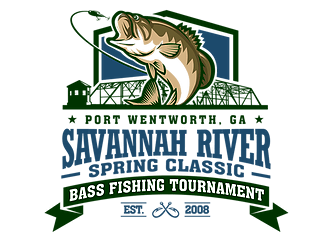 Savannah River Spring Classic Bass Fishing Tournament Port Wentworth Georgia Logo