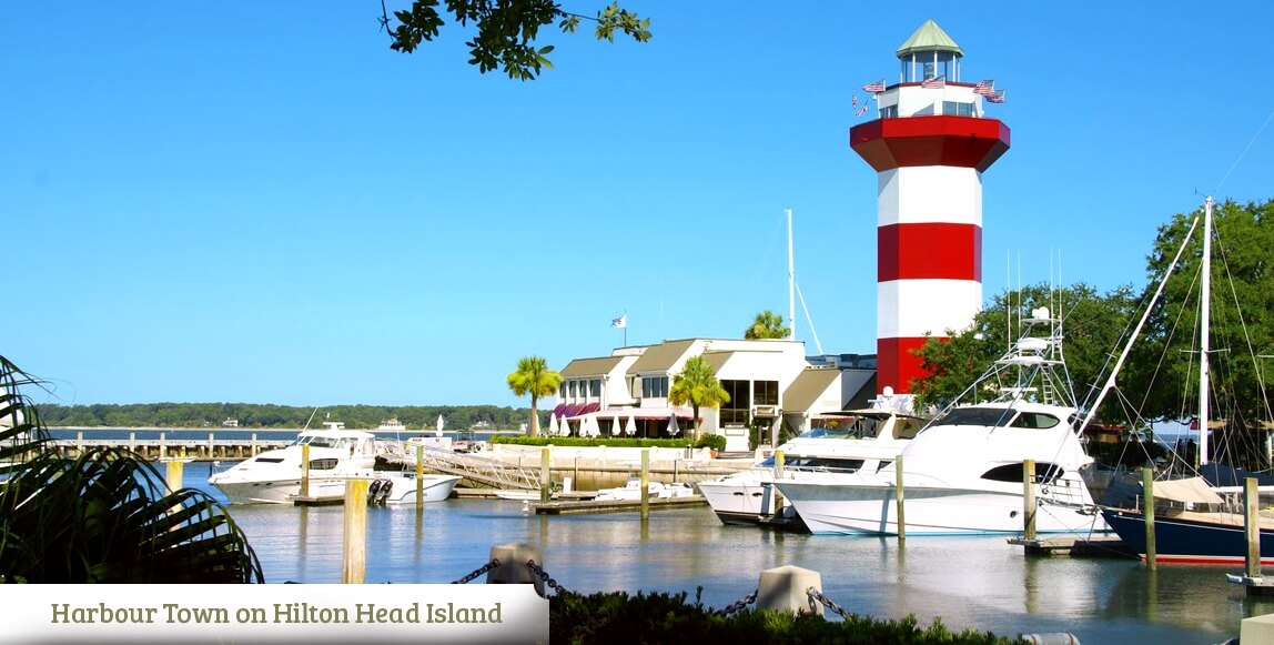 Harbour Town on Hilton Head Island near Port Wentworth Georgia